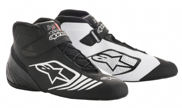 TECH 1 KX KART BOOTS BLACK/WHITE